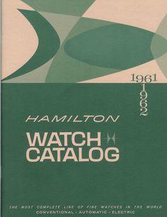 Hamilton Watch Catalog from 1961.