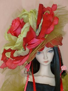 BJD Couture Doll Hat by susanlake1 on Etsy, $120.00
