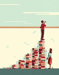 Con la lectura tu visión será mayor. Lee y compruébalo! (ilustración de Tom Haugomat )