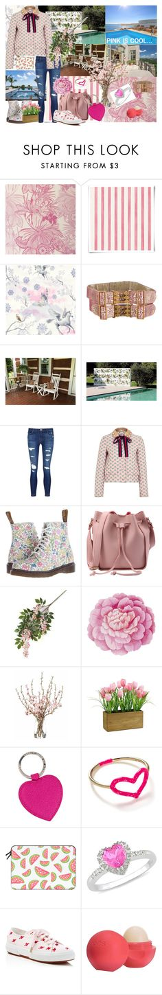 """""""Example set for 'Lunchin it with friend.....(dress me for)' contest!/Pink for lunch"""" by sarah-m-smith ❤ liked on Polyvore featuring Christian Lacroix, Fendi, J Brand, Gucci, Dr. Martens, Ballard Designs, MARBELLA, Smythson, Jordan Askill and Casetify"""