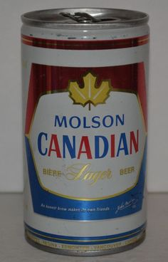 Molson Canadian Lager Vintage Beer Can Steel Breweries of Canada 6 Cities 12 oz #MolsonCanadianLager