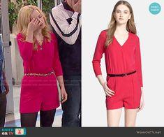 Liv's red romper on Liv and Maddie.  Outfit Details: http://wornontv.net/50737/ #LivandMaddie