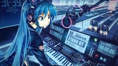 ... laptop | at52-hatsune-miku-anime-girl-train-blue-art-illustration-cute