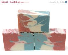 FALL SALE Energizing Artisan Vegan Unisex Soap, Naturally Scented, Peppermint- Pink Grapefruit Aromatherapy Soap