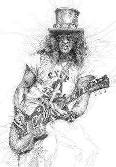 Slash- This Dyslexic Artist Creates Some Awesome Portraits.