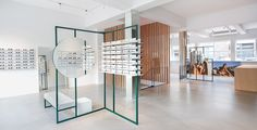 Our Rotterdam store on Pannekoekstraat Shop Interior Design, Retail Design, Store Design, Ace Tate, Glass Store, Eyewear Shop, Retail Fixtures, Optical Shop, Retail Concepts