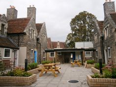 St Paul's Almshouses, Salisbury, Wiltshire, converted into flats for homeless people, 2012. Photo by Francesca Stout.