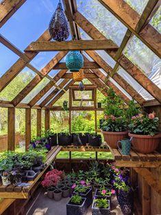 Diy Greenhouse Plans, Greenhouse Interiors, Backyard Greenhouse, Small Greenhouse, Greenhouse Shelves, Winter Greenhouse, Greenhouse Plants, Greenhouse Kitchen, Backyard Plan