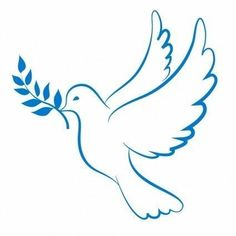 Dove of Peace - - Dove of Peace Activities Friedenstaube Silhouette Cameo, Dove Drawing, Peace Drawing, Dove Pictures, Pictures Of Doves, Dove Images, Church Banners, Painted Rocks, Embroidery Patterns
