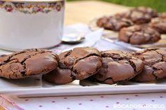 Aviso : estas galletas son altamente adictivas, puro chocolate, crujientes por fuera y con el corazón blandito. Dificultad  para ha...