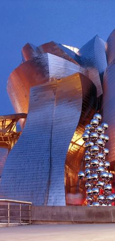 Spain. Basque Country. (Pais Vasco. Bilbao. The Guggenheim Museum Bilbao, is a museum of modern and contemporary art, designed by Canadian-American architect Frank Gehry. Architectural styles: Deconstructivism · Contemporary architecture · Expressionist architecture.