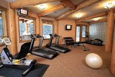 I like the windows to look out of while using the treadmill... Also the glass block walls can bring light in from other areas while shielding the gym from the rest of the house.
