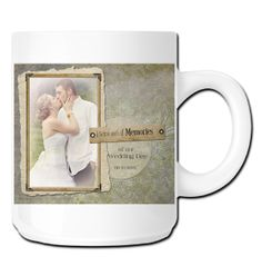 We'll customize this beautiful Save The Date photo mug with your favorite wedding photo and details, creating a unique and memorable personalized photo gift for family and friends or a keepsake for yourself! It's a great way to preserve and share your special moments and a perfect gift for the new Mr and Mrs, parents and members of the bridal party! photofusiongifts.com