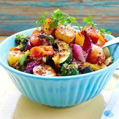 lauwarmer Röstgemüse Salat