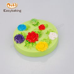 Ice Cube vários peônia rosa flores bolo decore moldes de Silicone Artificial botão brincos anéis em   de   no AliExpress.com | Alibaba Group