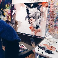 Les splendides tableaux de Dimitra Milan artiste de seulement 16 ans  Dessein de dessin