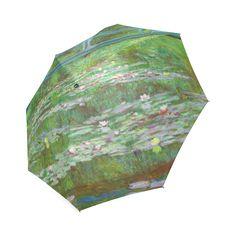 Monet Japanese Bridge Water Lily Pond Foldable Umbrella.
