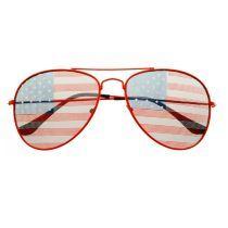 USA Flag Patriotic Mens Womens Fashion Party Metal Aviator Sunglasses A1610 by FREYRS EYEWEAR