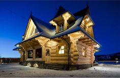 048 Small Log Cabin Homes Ideas Tiny Log Cabins, Small Log Cabin, Log Cabin Kits, Log Cabin Homes, Cabins And Cottages, Small Log Homes, Mountain Cabins, Rustic Cabins, Style At Home