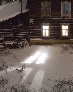 this reminds me of when I was a kid, how I would play out in the deep snow at night, with the only light coming from the moon, the stars, and inside the warm house...