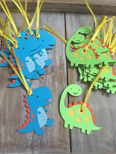 Dinosaur Tags Dinosaur Birthday Dinosaur by EricasCrafties on Etsy Backyard Birthday, Dinosaur Birthday Party, Baby First Birthday, Boy Birthday Parties, Dinosaur Cupcake Toppers, Birthday Cake Toppers, Dinosaur Cake, Birthday Party Centerpieces, Birthday Decorations