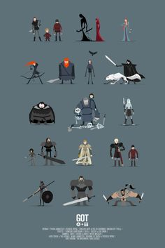 GoT Character Poster - missing a very important person, but I still really like it. Game Of Thrones Poster, Game Of Thrones Art, Game Of Thrones Cartoon, Vector Game, 2d Game Art, Character Design References, Game Character Design, Character Concept, Character Art