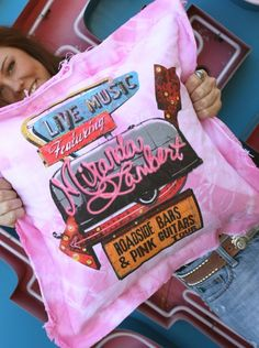 I will have these funky pillows to fuel my Miranda Lambert obsession.