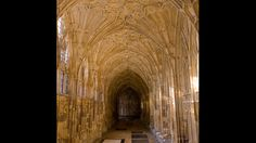 Gloucester Cathedral, Gloucester, UK  The Gothic cloisters were used for many of the interior scenes for Hogwarts.