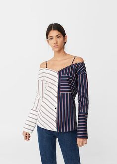 Blusa estampado rayas | MANGO