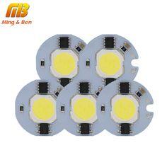 [MingBen] 5pcs LED COB Chip Light 9W 7W 5W 3W 220V 230V Input Smart IC Cold White Warm White DIY For LED Spotlight Floodlight