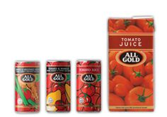 Made from the finest reconstituted vegetable juices, All Gold beverages are not only an explosion of taste delight, they're also high in lycopene which is great for your overall health.