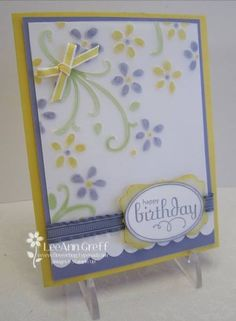Colored Vellum technique by flowerbugnd1 - Cards and Paper Crafts at Splitcoaststampers