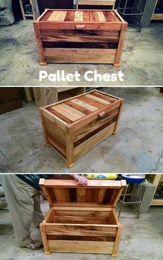 Make a Chest From #Pallets - 100% Reclaimed Pallets