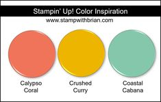 Stampin' Up! Color Inspiration - Calypso Coral, Crushed Curry, Coastal Cabana