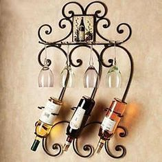 #LightInTheBoxfavorites Metal Wall Art Iron Wall Decor Wine Rack Wall Art Two Color Optional Wall Decor – USD $ 39.99