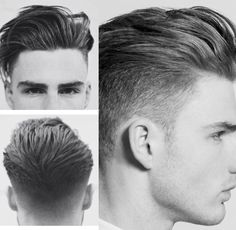 Haare Swept back undercut Hairstyle. Mens Modern Hairstyles, Popular Mens Hairstyles, Quiff Hairstyles, Trendy Haircuts, Haircuts For Men, Men's Haircuts, Medium Hairstyles, Hair And Beard Styles, Short Hair Styles