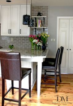 backsplash to the ceiling  open shelving different style kitchen remodel white subway tile Wall Tile Bathroom Remodel