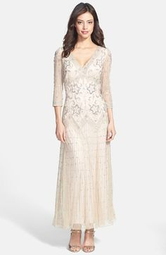 Free shipping and returns on Pisarro Nights Beaded Mesh Dress (Regular & Petite) at Nordstrom.com. Hundreds of glimmering beads and sequins sparkle atop a mesh-overlaid dress with a substantial weight and subsequently beautiful drape and flow. The silhouette is fitted through the V-neck bodice before releasing to a softly swirling skirt.