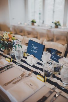 table number ideas... Where do I get the rope holder?!