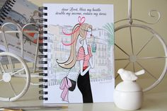 planner refills / notebooks / fashion illustration by PatriciaAtelier Happy Planner Cover, Daily Planner Pages, Daily Planner Printable, Mini Happy Planner, Arc Planner, Planner Inserts, Filofax Refills, Refillable Planner, Beautiful Notebooks