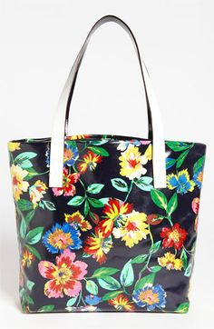 This is a coated tote.  Love the colors!  Would be a great beach bag!