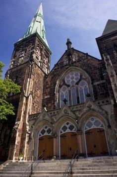 Church Design Downtown Saint John New Brunswick - Photo & Travel Idea Canada Saint John New Brunswick, New Brunswick Canada, New England Fall, Church Design, Prince Edward Island, Jet Plane, Chapelle, Place Of Worship, Kirchen