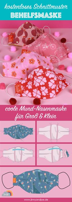 DIY sewing - makeshift mask - just sew yourself - Jinny & Joe Pocket Pattern, Free Pattern, Sewing Tutorials, Sewing Projects, Costura Diy, Diy Masque, Good Day Sunshine, Diy Nightstand, Diy Couture