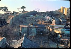 Seoul view, southwest from North Gate, Dec 1966 by Stephen Dreher.