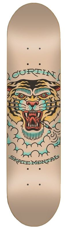#Skate Mental Features:Width: 8.0″Tiger design7-Ply constructionJack Curtin pro modelMaterials:100% MapleSkate Mental! Step up your game with this Jack Curtin pro model. 8.0″ wide this deck is perfect for skating both street and transition!