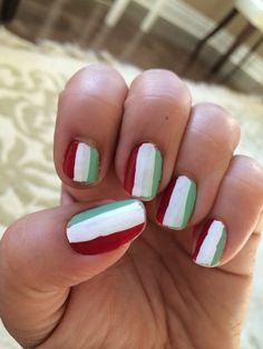 Persian/ Italian soccer nails