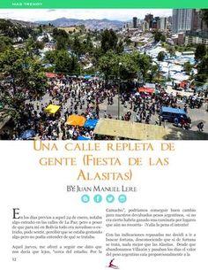 Una calle repleta de gente  Fiesta de Alasitas #Bolivia #Cultura #Travel Revista HEY MUJER No. 5  Se viene la primera edición del 2017, con lo mejor en tendencias, actualidad, eventos, cultura y mucho más
