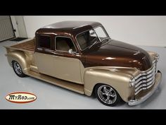 This 1950 Chevy restomod truck is a unique build – converted to a STRETCH CAB. Check out more truck videos below! ⬇️ This 3100 pickup truck. 1950s Chevy Truck, Custom Chevy Trucks, Vintage Pickup Trucks, Chevy Pickup Trucks, Classic Chevy Trucks, Chevrolet Trucks, Gmc Trucks, Diesel Trucks, Custom Cars