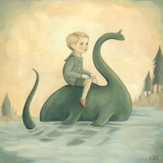 In Secret Lake by Emily Winfield Martin (The Black Apple) Black Apple, Amazing Paintings, All Nature, Sea Monsters, Vibrant Colors, Fantasy Art, At Least, Illustration Art, Barn