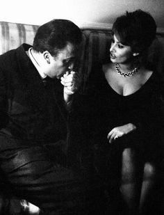 Federico Fellini & Sophia Loren © Chiara Samugheo